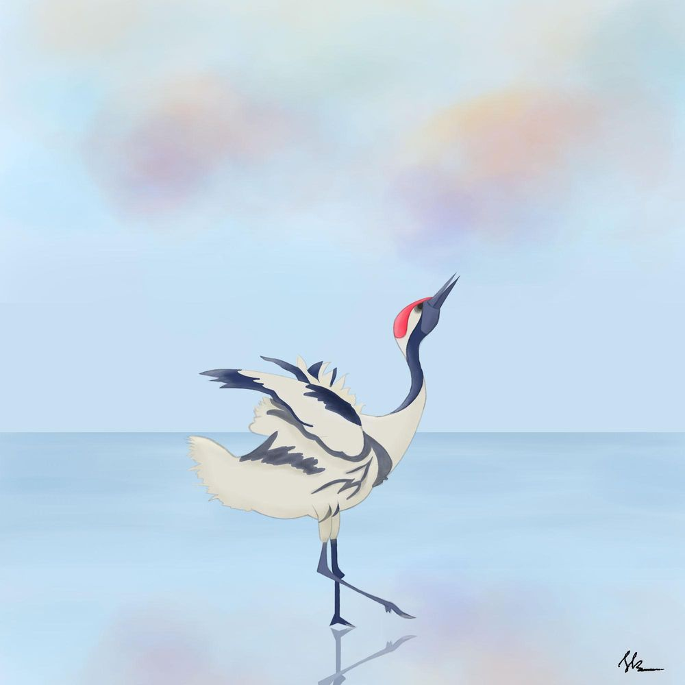 Red crown Crane - image 1 - student project