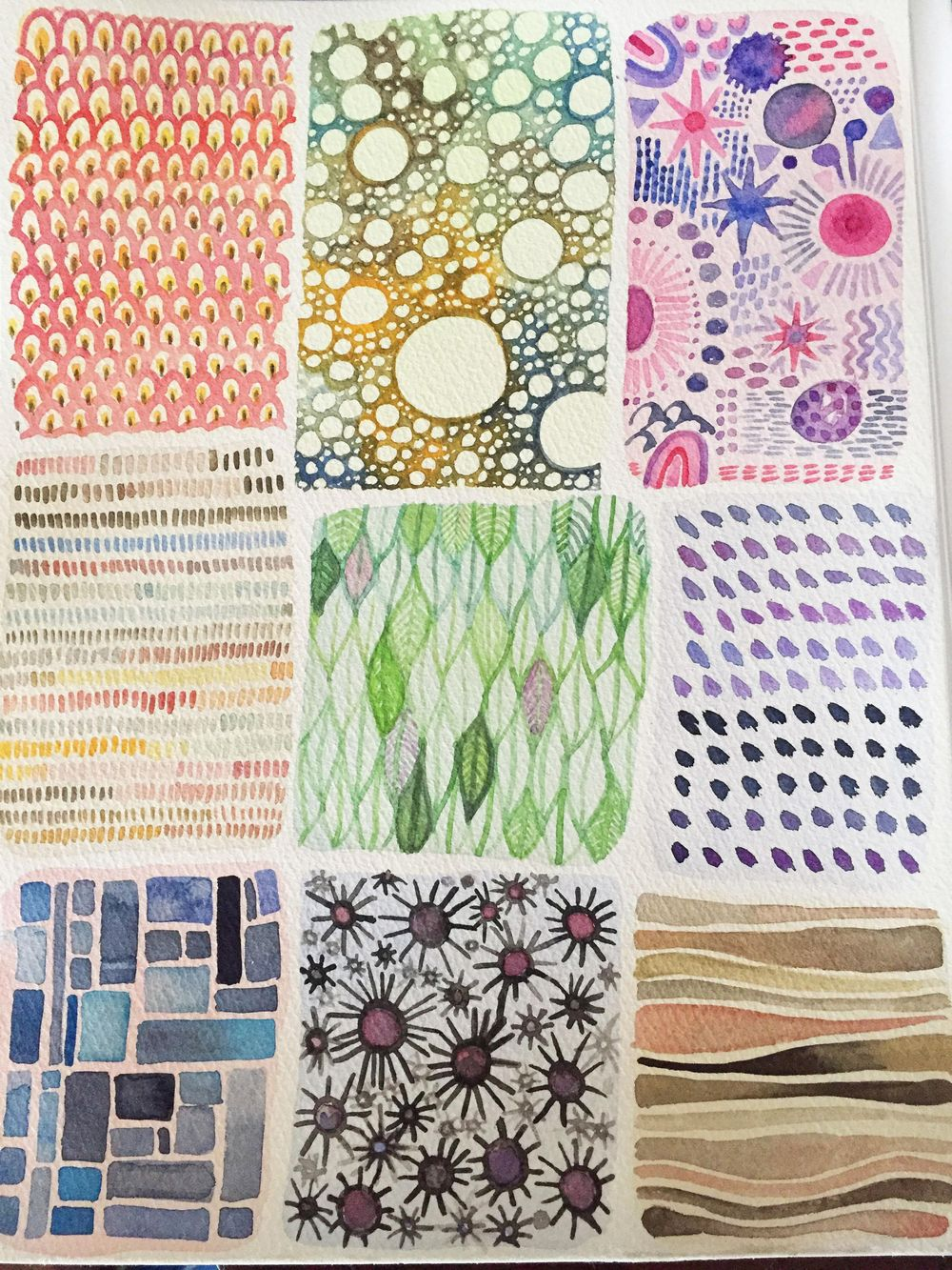 Watercolor patterns - image 1 - student project