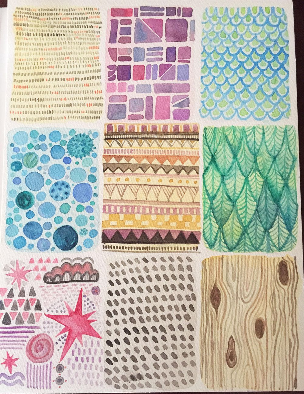 Watercolor patterns - image 2 - student project