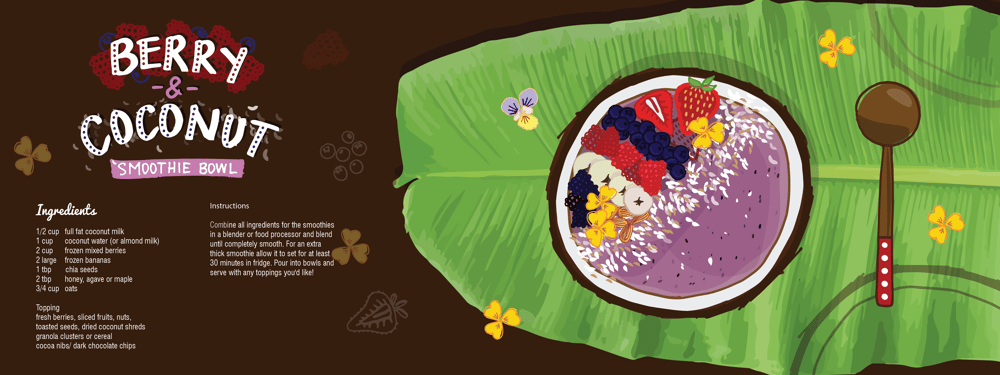 Berry & Coconut Smoothie Bowl - image 6 - student project