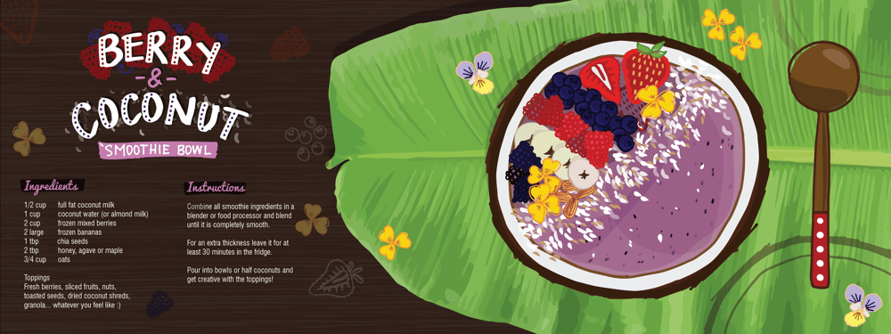 Berry & Coconut Smoothie Bowl - image 7 - student project