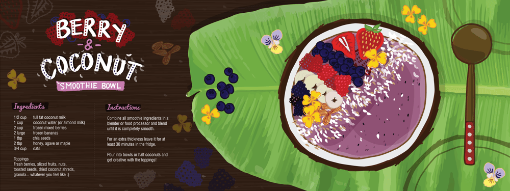 Berry & Coconut Smoothie Bowl - image 8 - student project