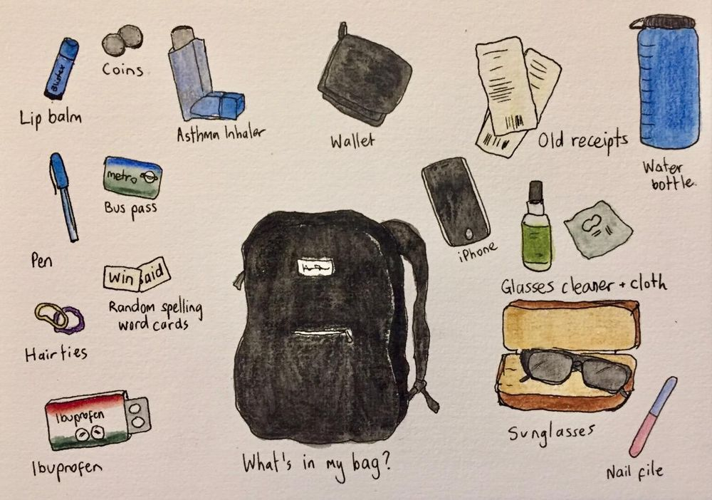 What's in my bag? - image 1 - student project