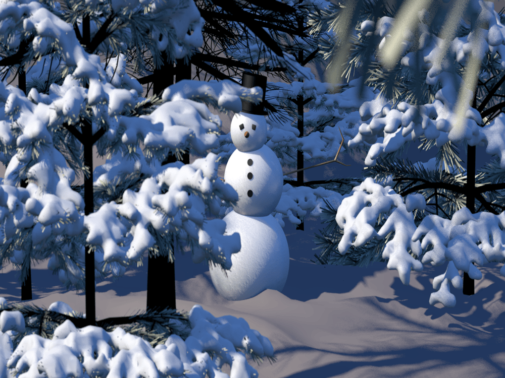 Snowman - image 2 - student project