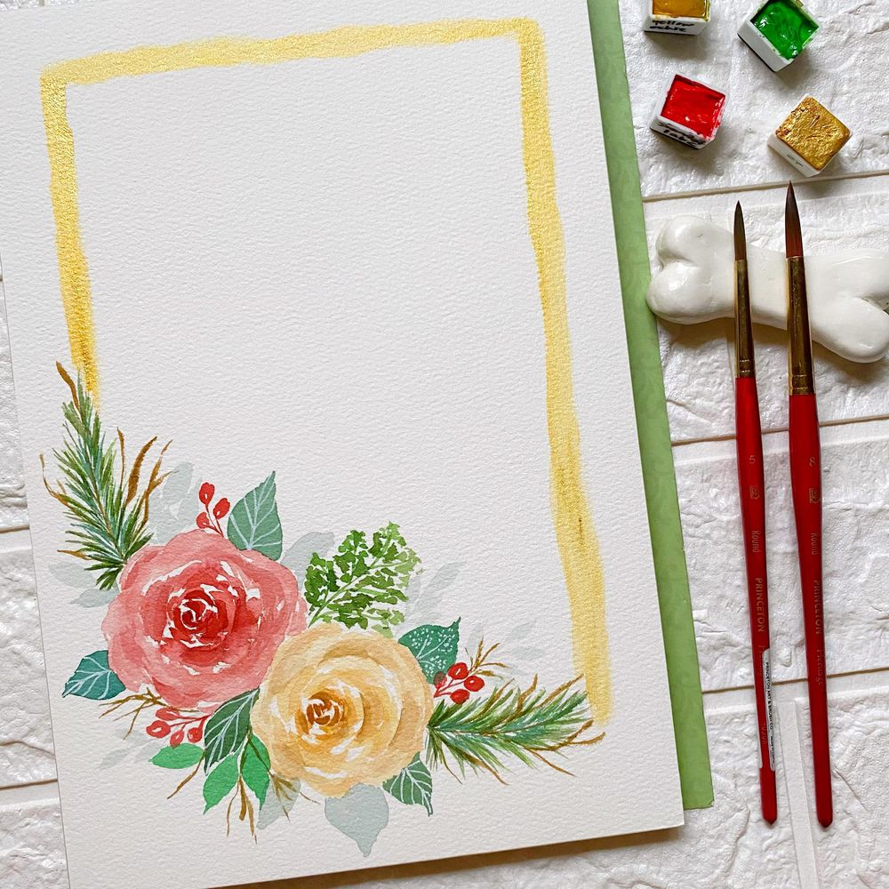 Modern Holiday Florals - image 1 - student project