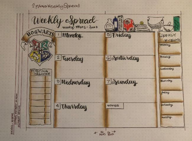 Hogwarts Weekly Spread - image 1 - student project