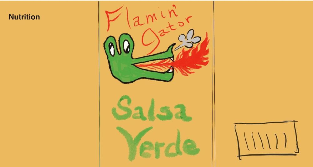 Flamin' Gator Salsa Verde (rough draft only) - image 1 - student project