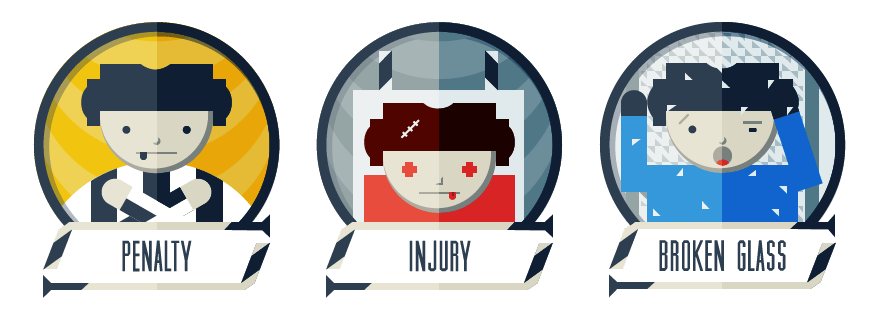 Hockey Game Badges  - image 4 - student project