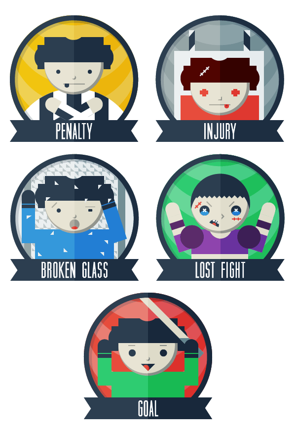 Hockey Game Badges  - image 5 - student project
