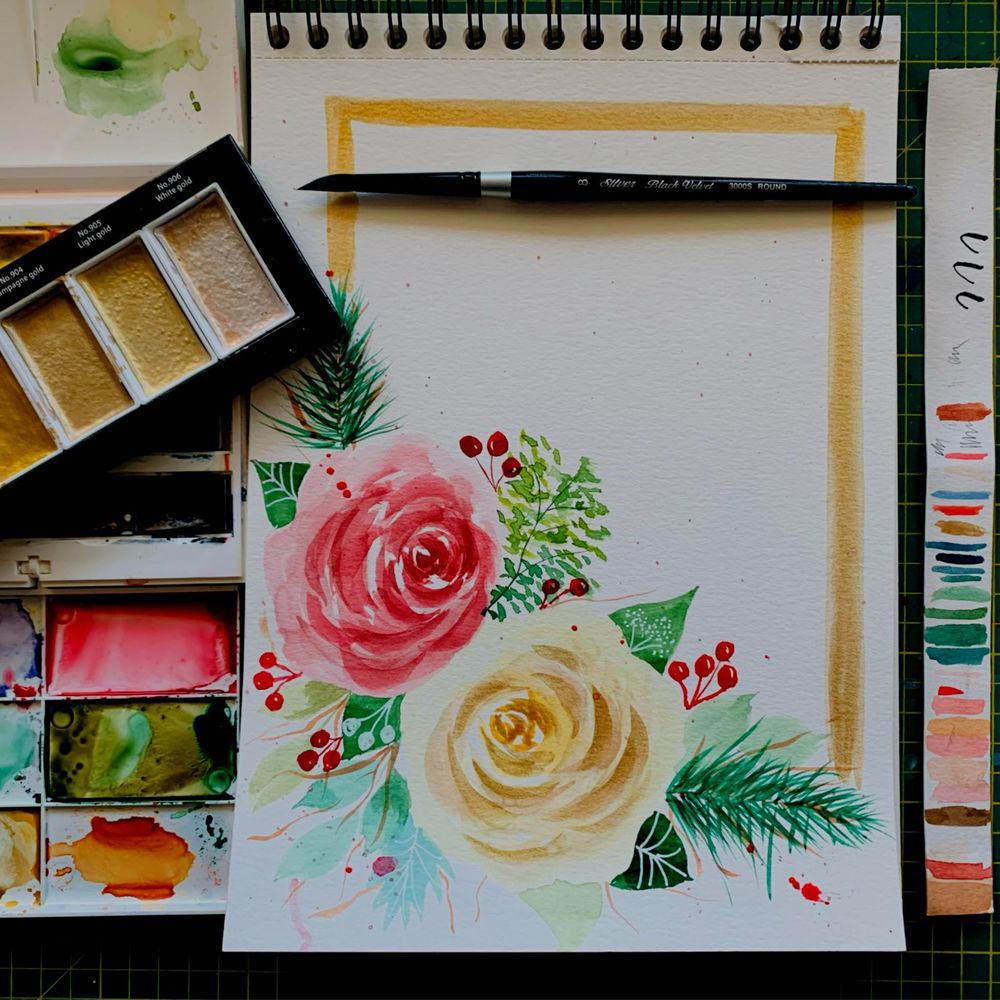 Modern holiday florals - image 3 - student project