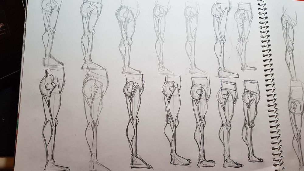 Male Figure Drawing - image 12 - student project