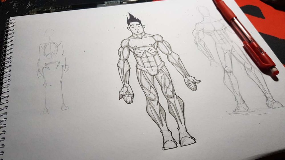 Male Figure Drawing - image 20 - student project