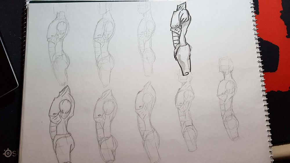 Male Figure Drawing - image 5 - student project