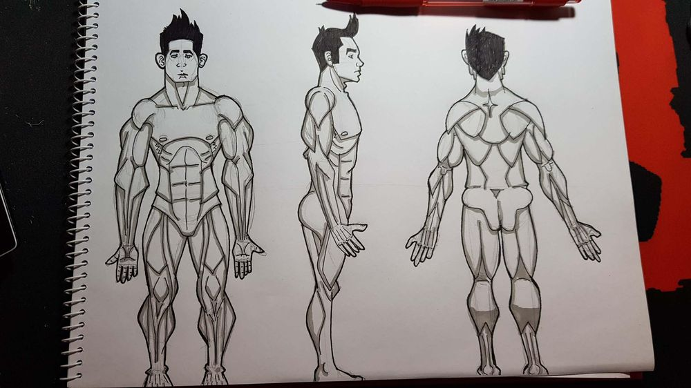 Male Figure Drawing - image 21 - student project