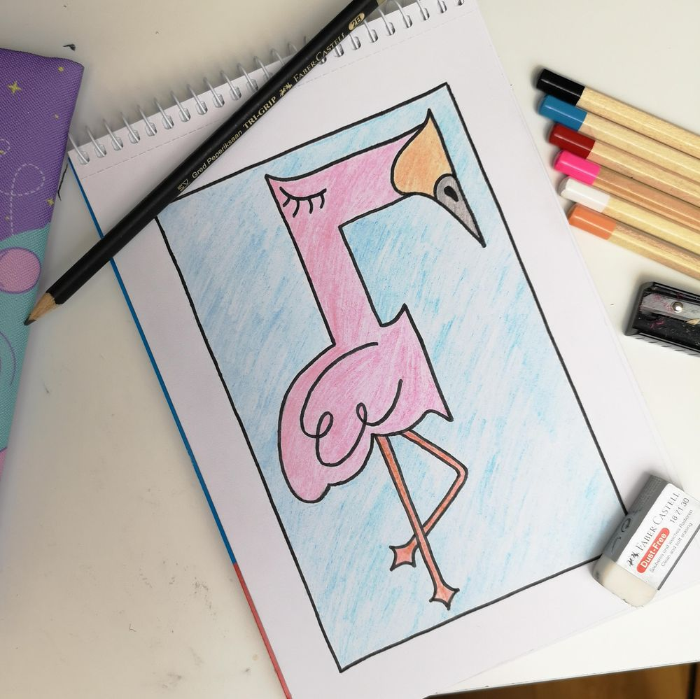 F is for Flamingo - image 1 - student project