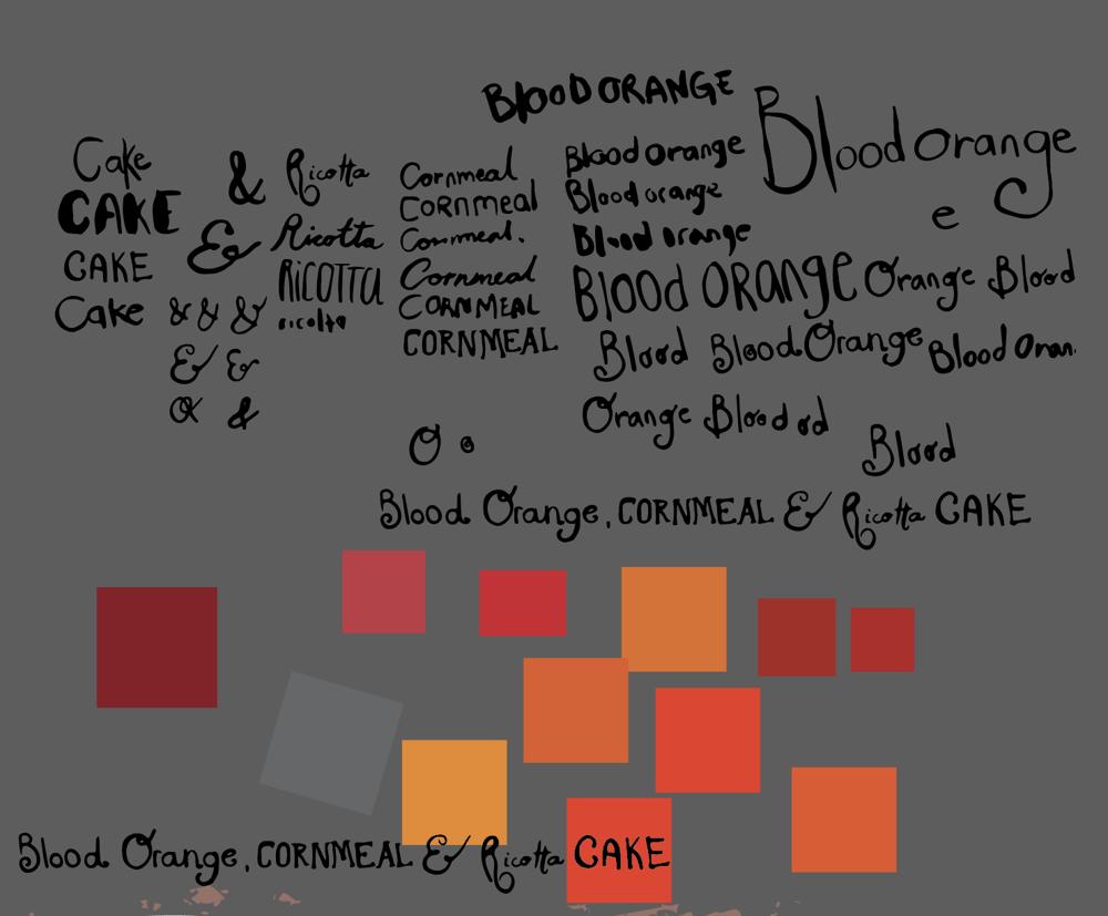 blood orange, cornmeal and ricotta cake  - image 3 - student project