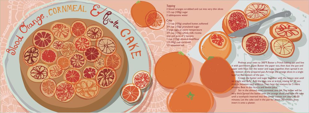 blood orange, cornmeal and ricotta cake  - image 4 - student project