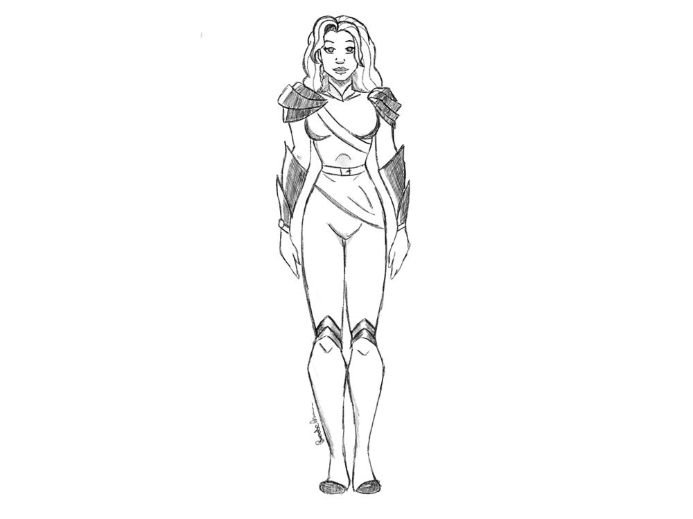 Female Superhero Design - image 2 - student project