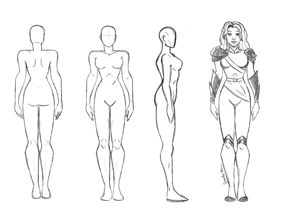 Female Superhero Design - image 1 - student project