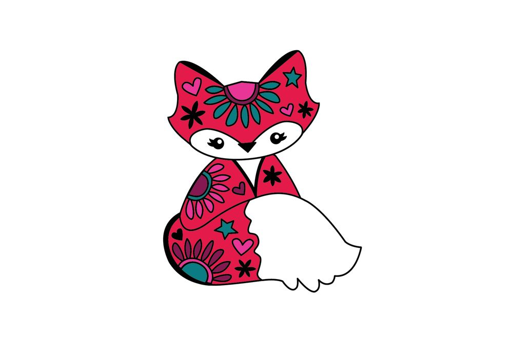 Hey Foxy!!!  My pen tool enamel pin project - image 10 - student project