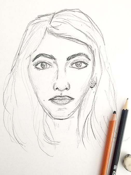 selfie sketches - image 2 - student project