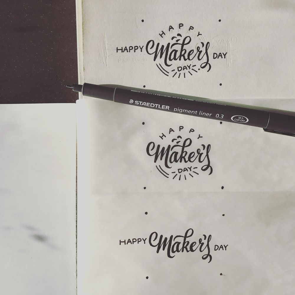 Animated Lettering - Happy Maker's Day - image 1 - student project