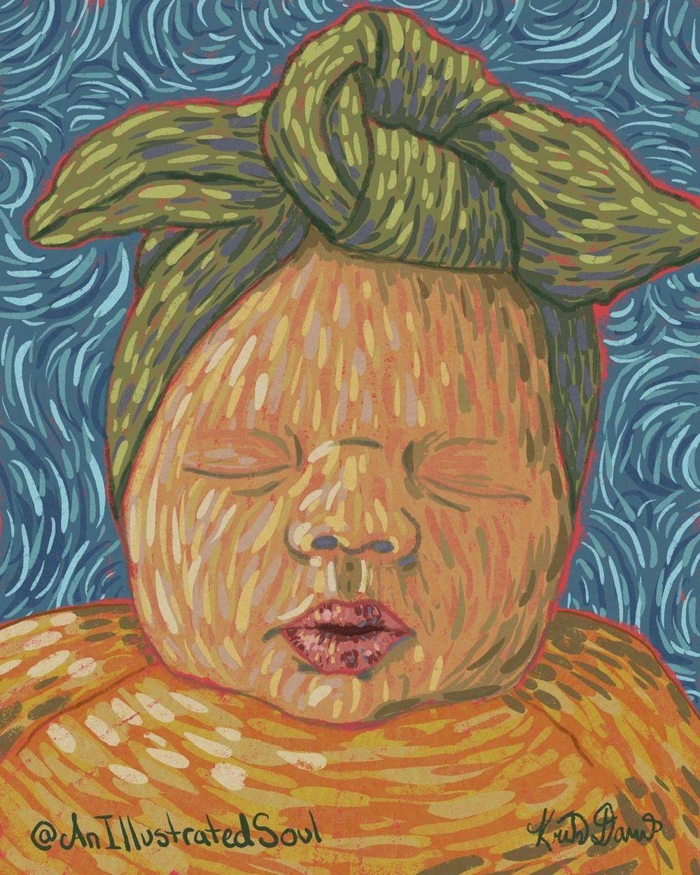 Digital Baby Portrait - image 1 - student project