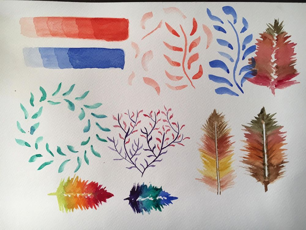Watercolor experiments - image 1 - student project