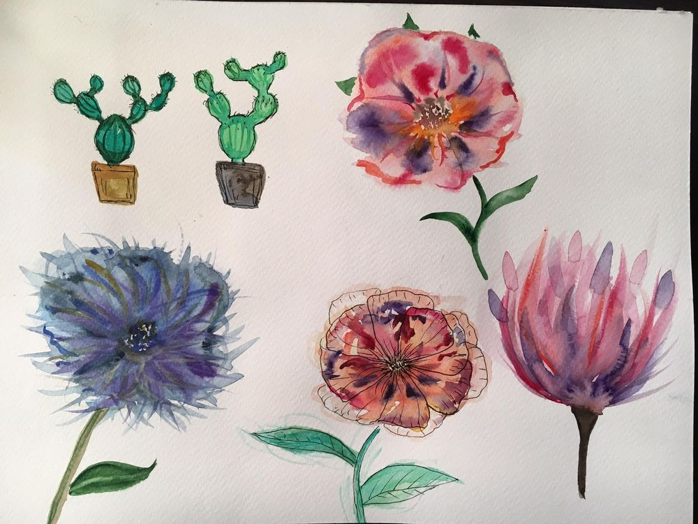 Watercolor experiments - image 2 - student project
