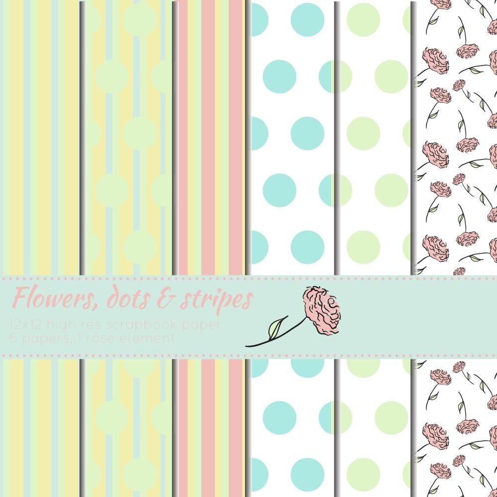 Flowers, dots & stripes - image 1 - student project