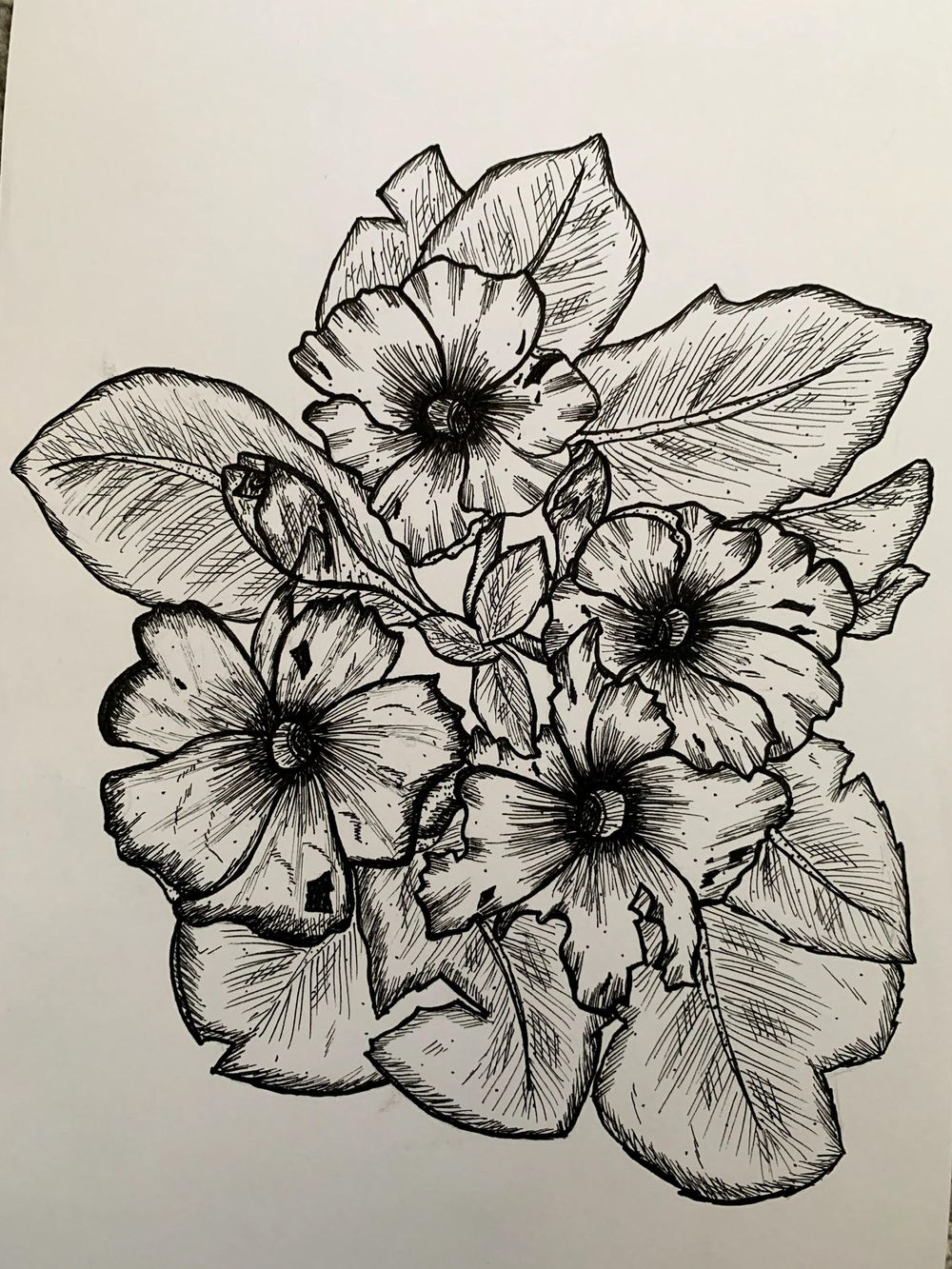Pen and Ink Florals - image 1 - student project