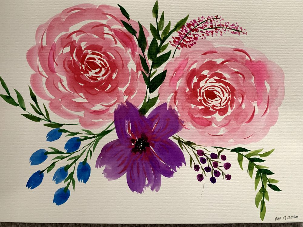 Watercolor Florals: From Blobs to Blooms - image 1 - student project