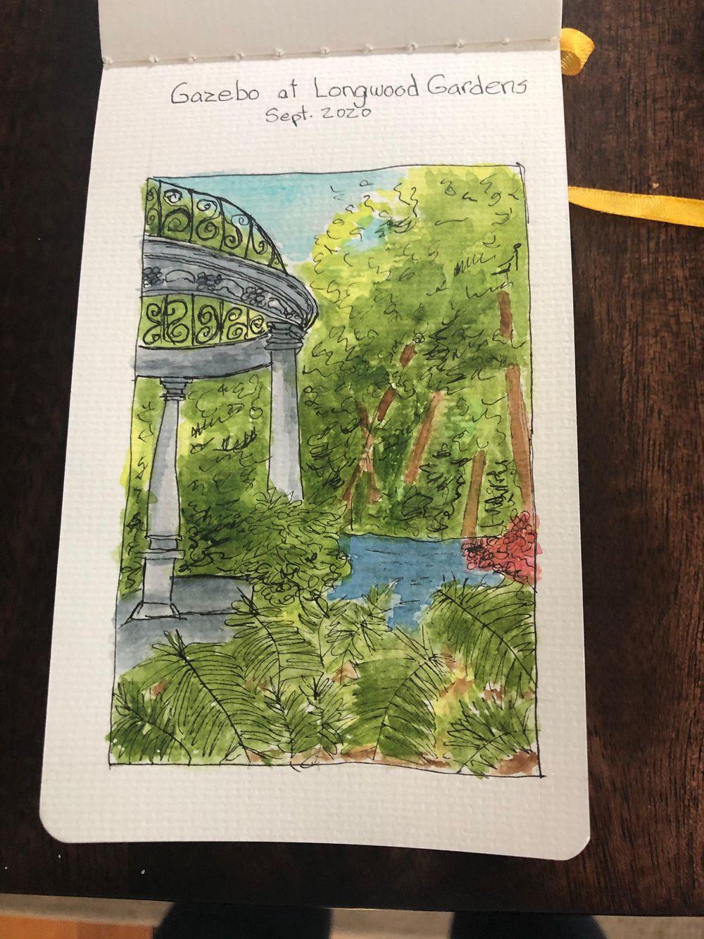 Gazebo Scene at Longwood Gardens - image 1 - student project