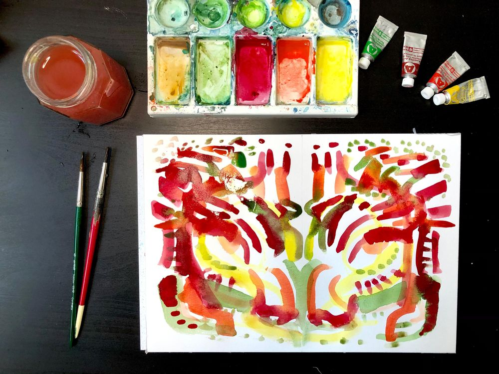 Painting w/ non-dominant hand - image 1 - student project