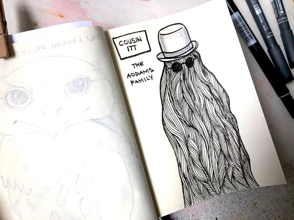7-days of sketchbook drawings - image 1 - student project