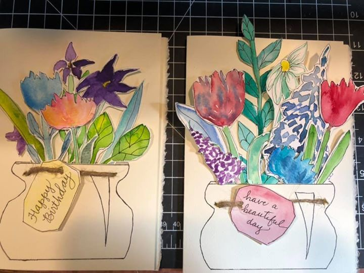 Two Thank You cards and another cut out piece - image 2 - student project