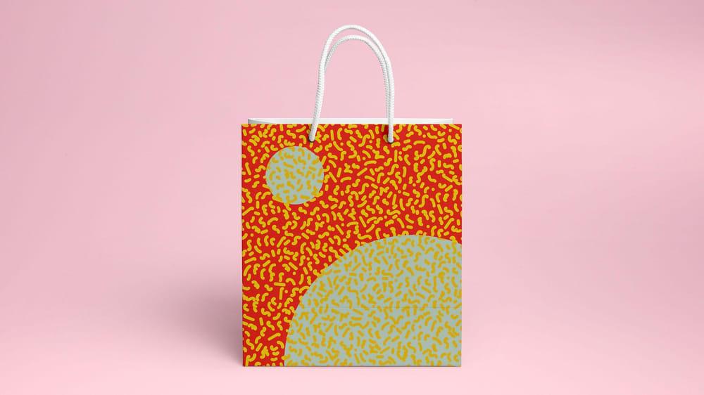Memphis 'Solar Storm' Shopping Bag - image 1 - student project