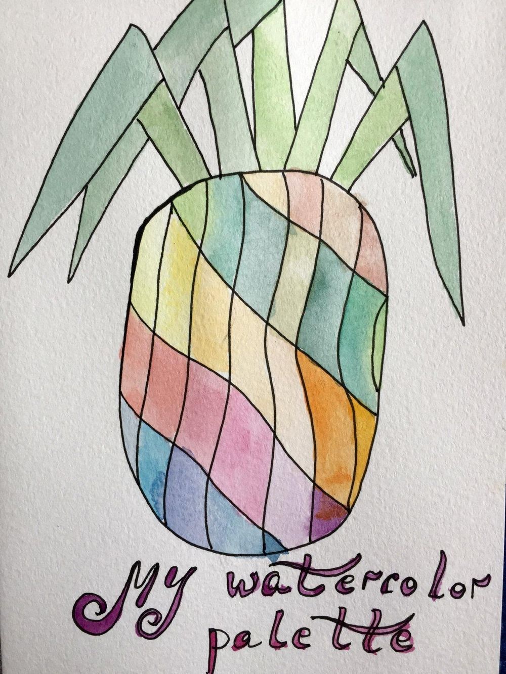 My pineapple palette - image 1 - student project