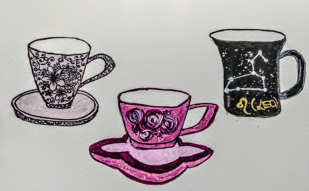 Teacups In Gouache - image 2 - student project