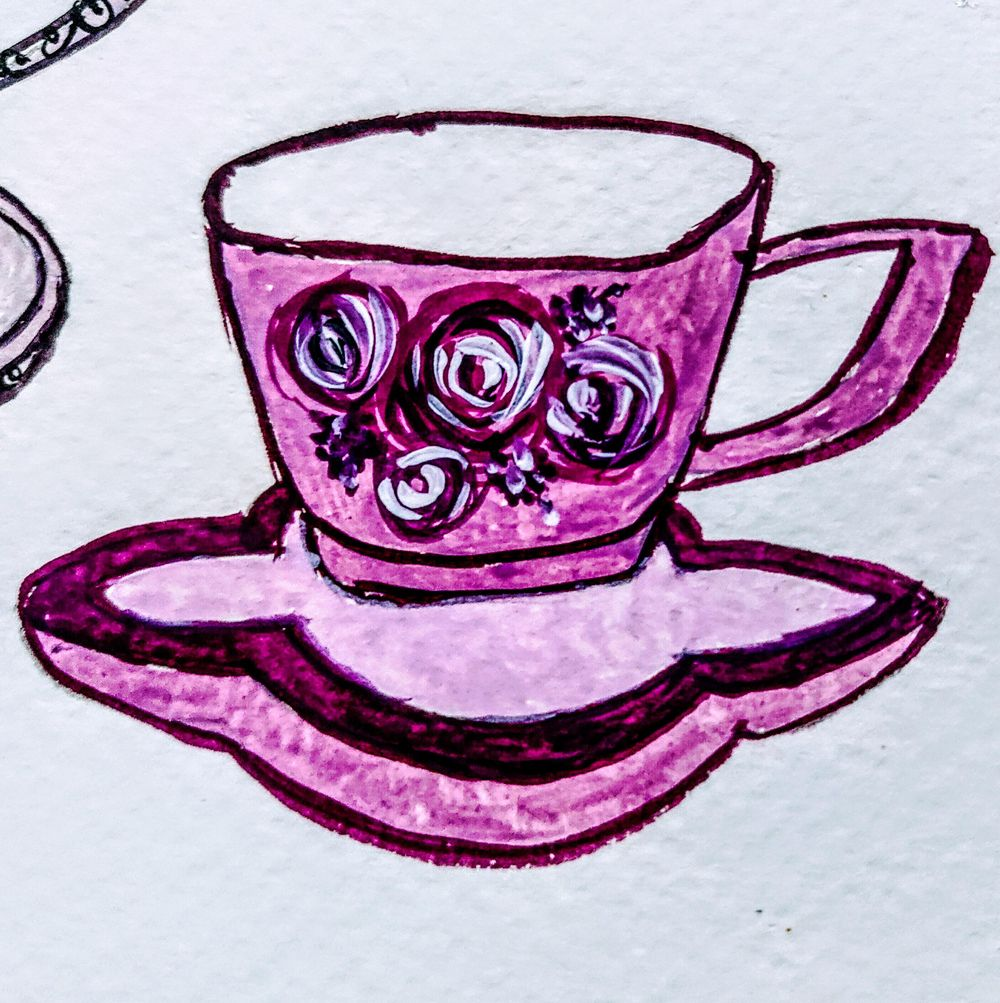 Teacups In Gouache - image 4 - student project
