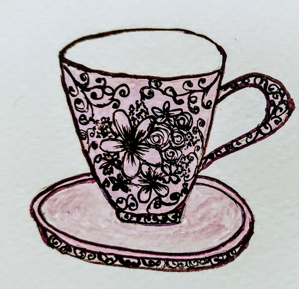Teacups In Gouache - image 3 - student project