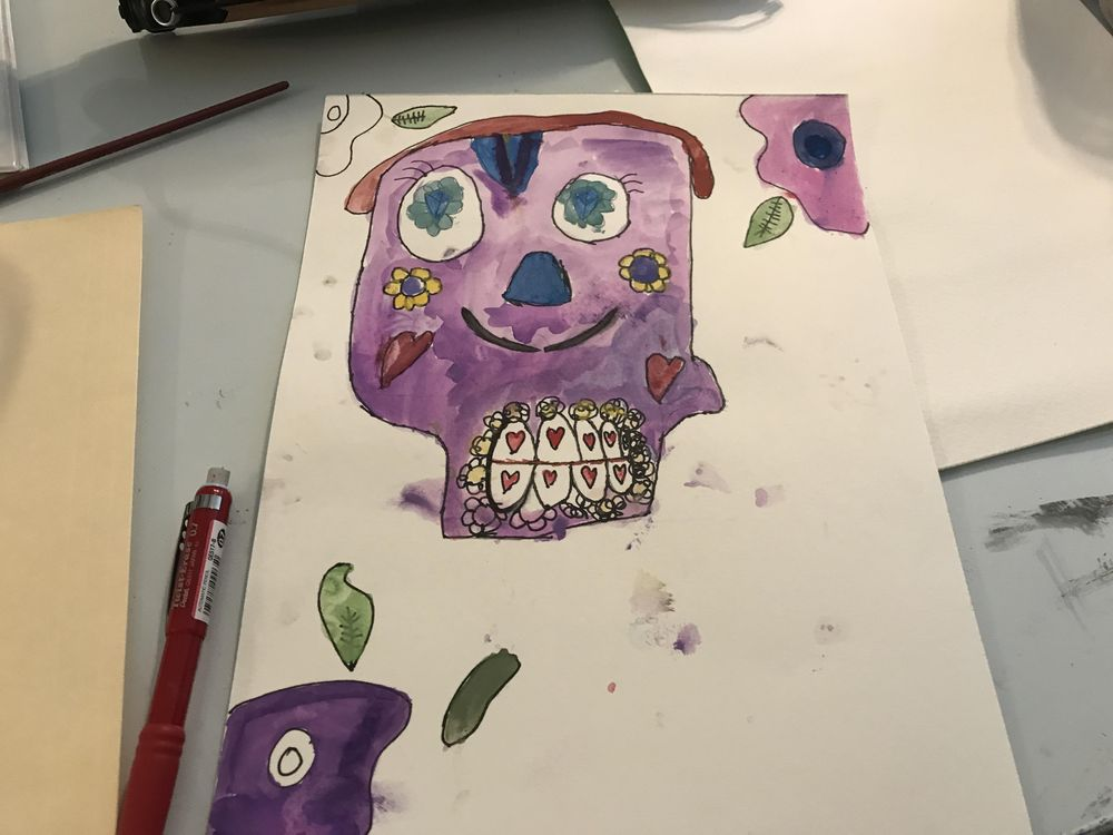 Day of the dead skull - image 1 - student project