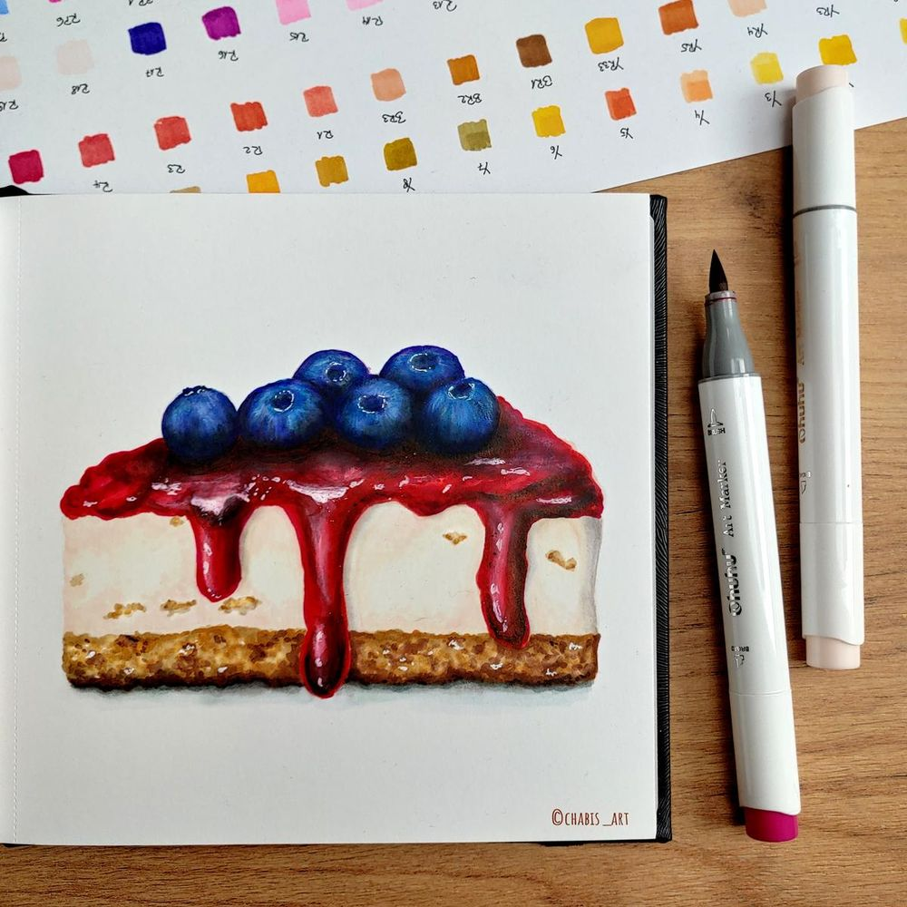 My blueberry cheesecake - image 1 - student project