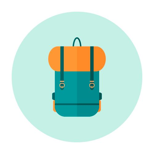 Flat Icon backpack - image 1 - student project