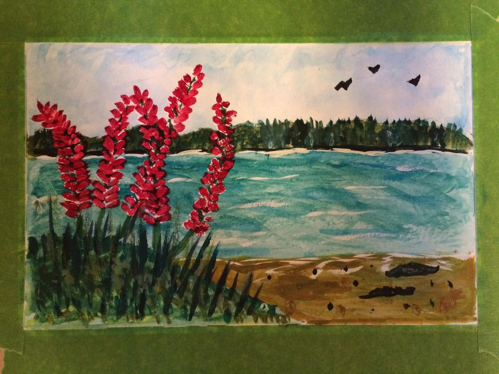 First-ever water color - image 1 - student project