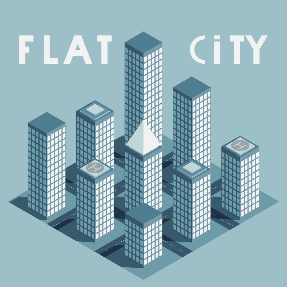 Flat cities - image 1 - student project