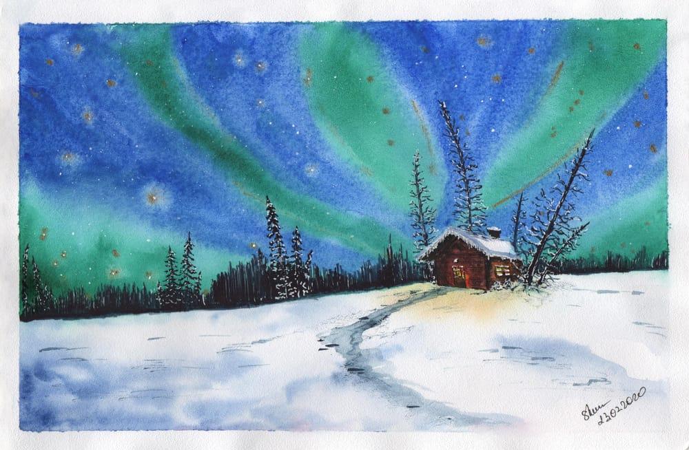 Magic winter night - image 1 - student project