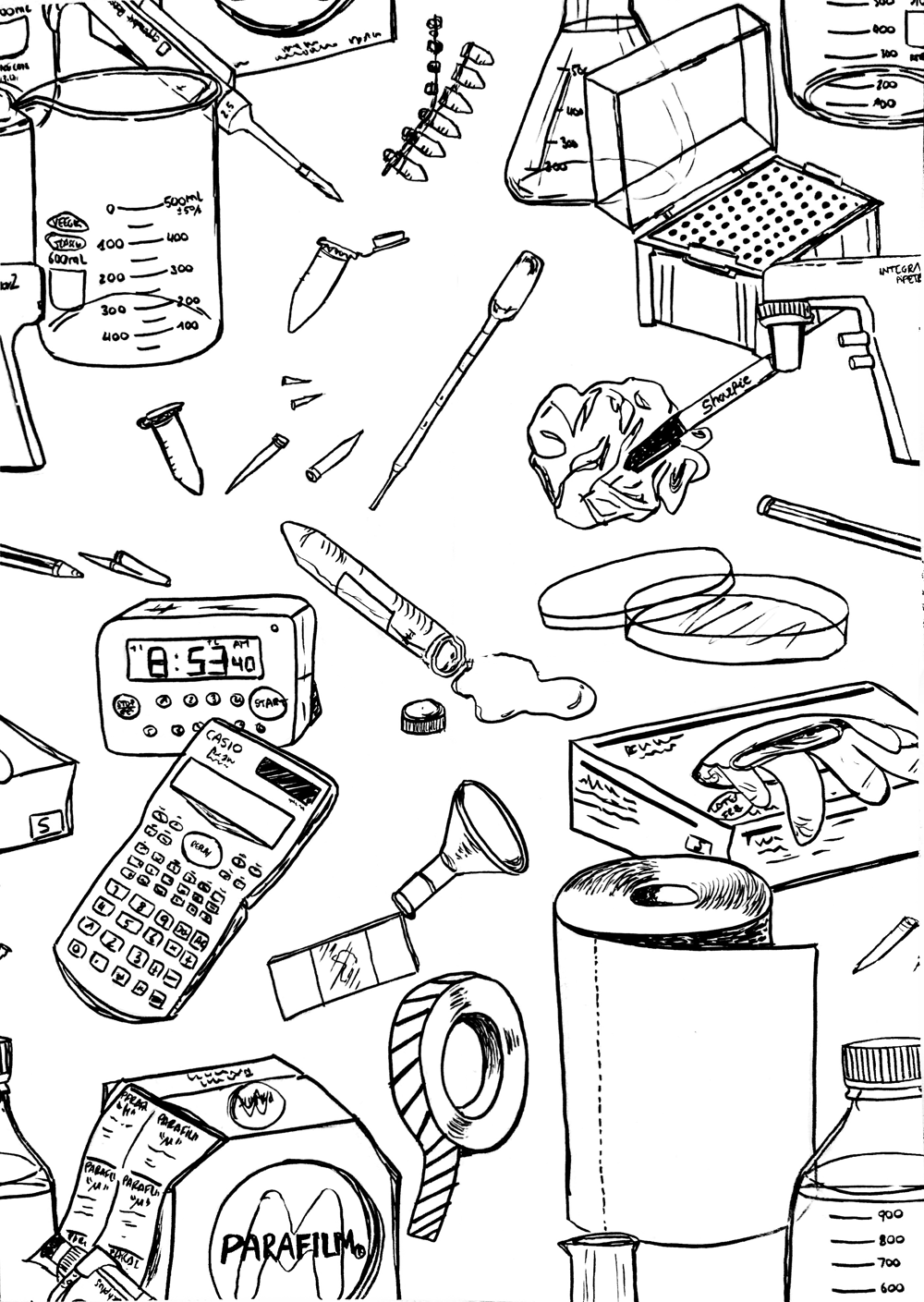 Illustrating Patterns: Creating Hand-Drawn Wallpaper - image 2 - student project