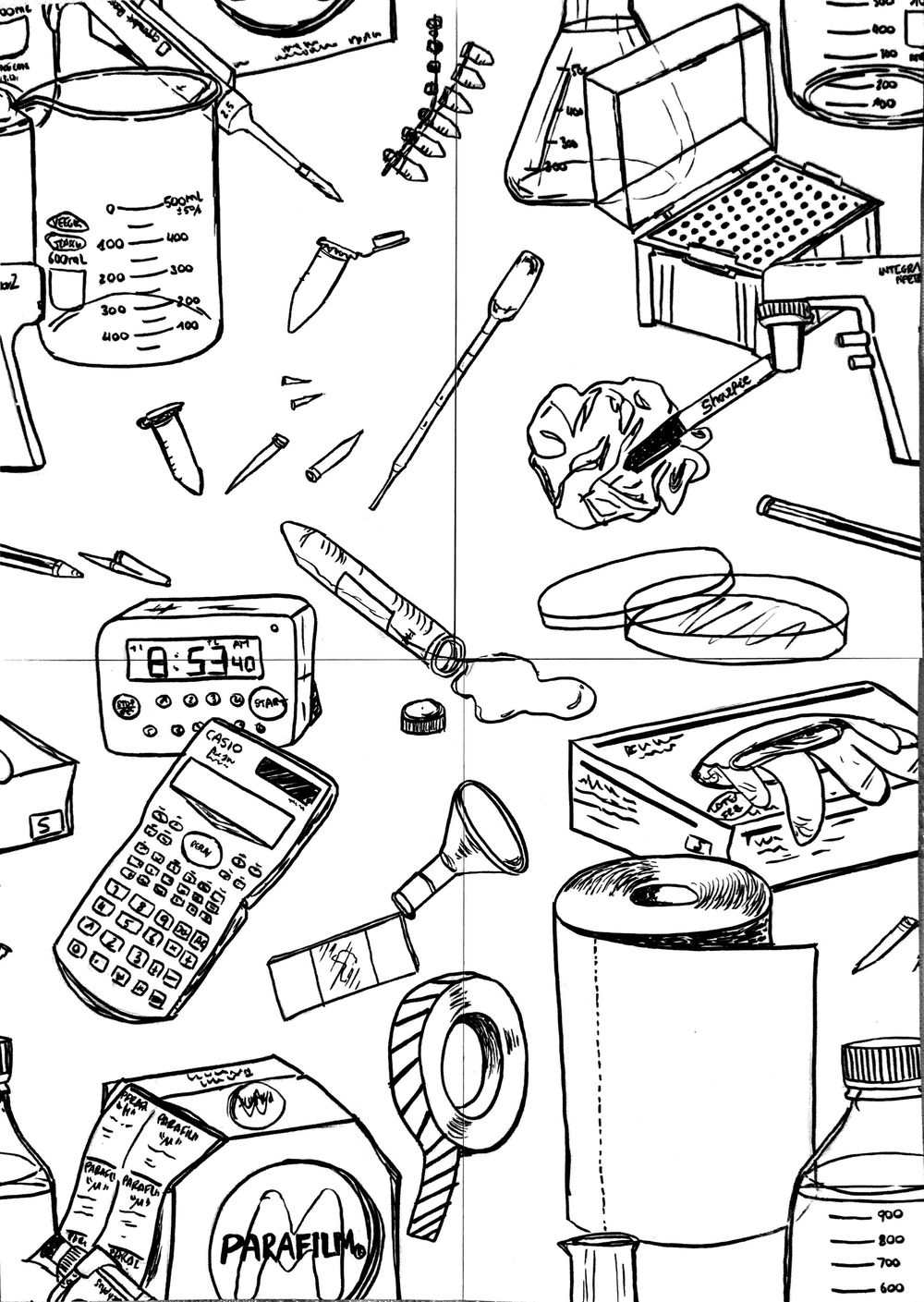 Illustrating Patterns: Creating Hand-Drawn Wallpaper - image 1 - student project