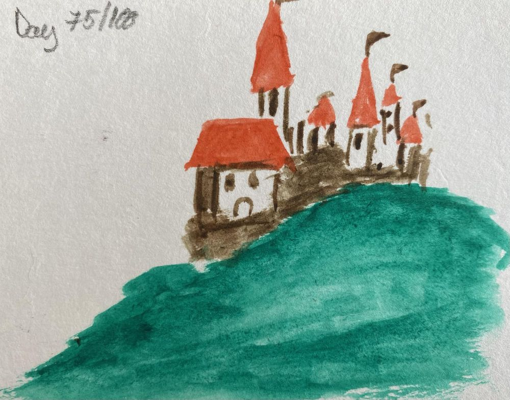 100 Day Watercolor Challenge - image 75 - student project